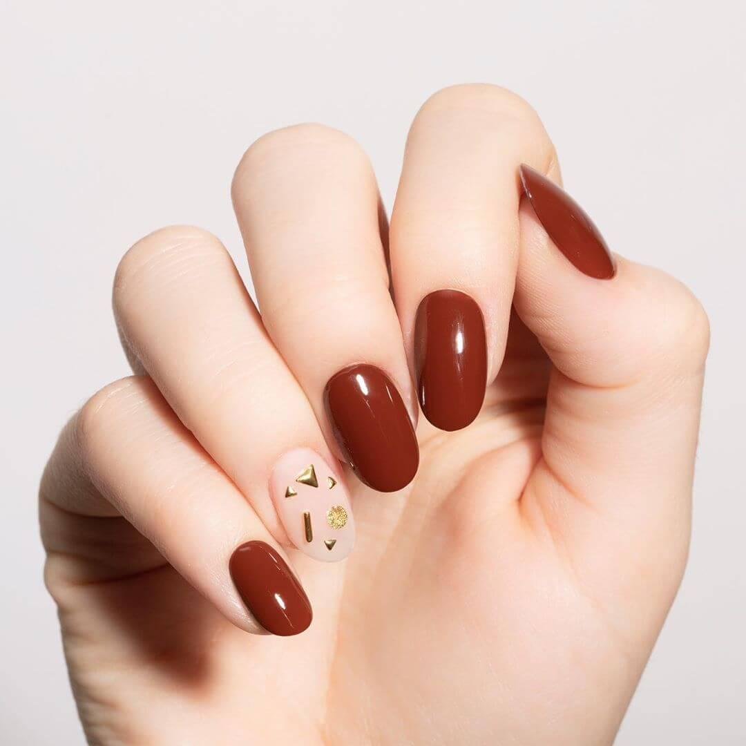 Chocolate Wedding Nail Art Designs