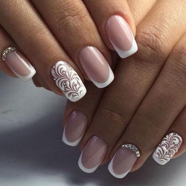 Polish wall Wedding Nail Art Designs