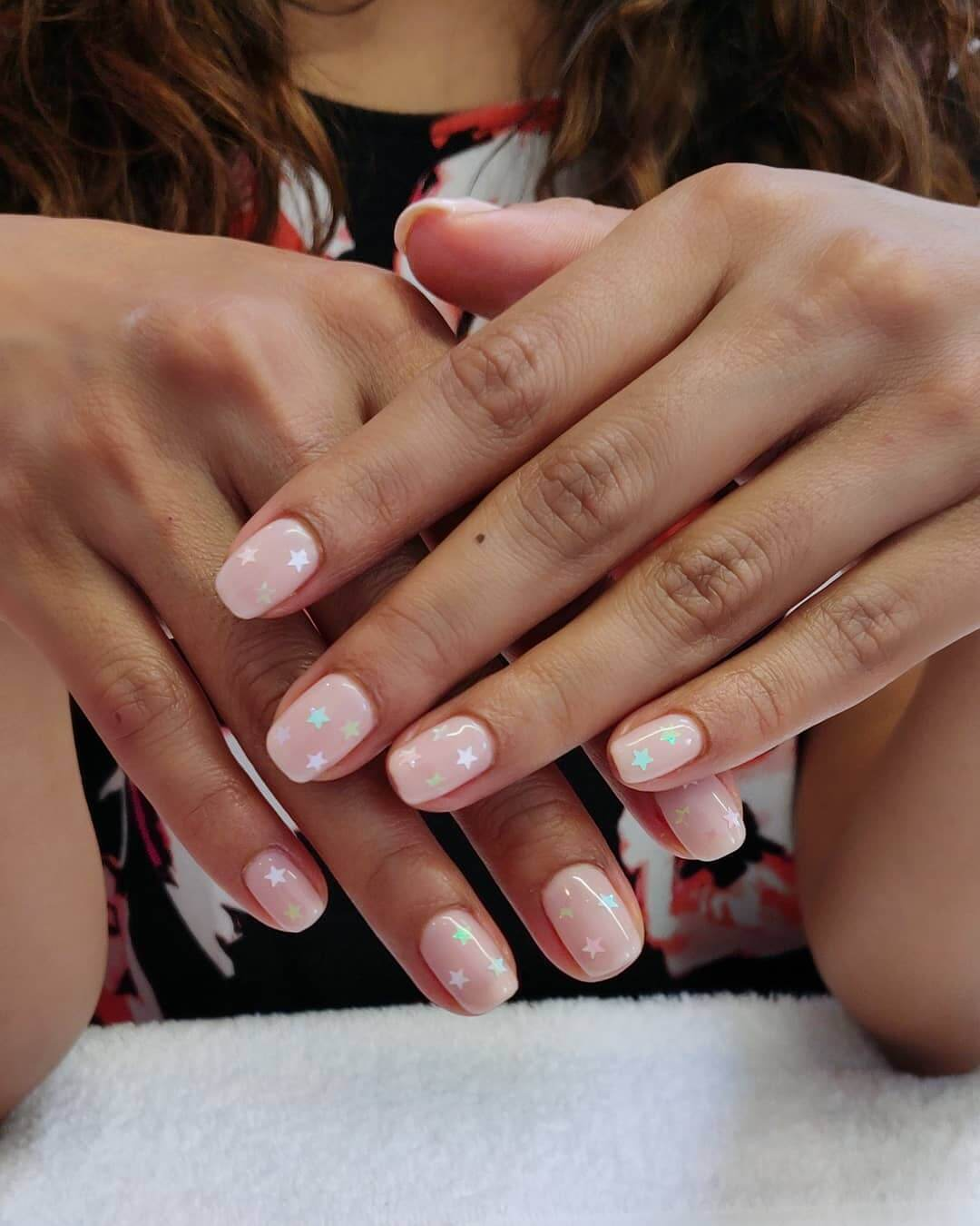 White Star Wedding Nail Art Designs