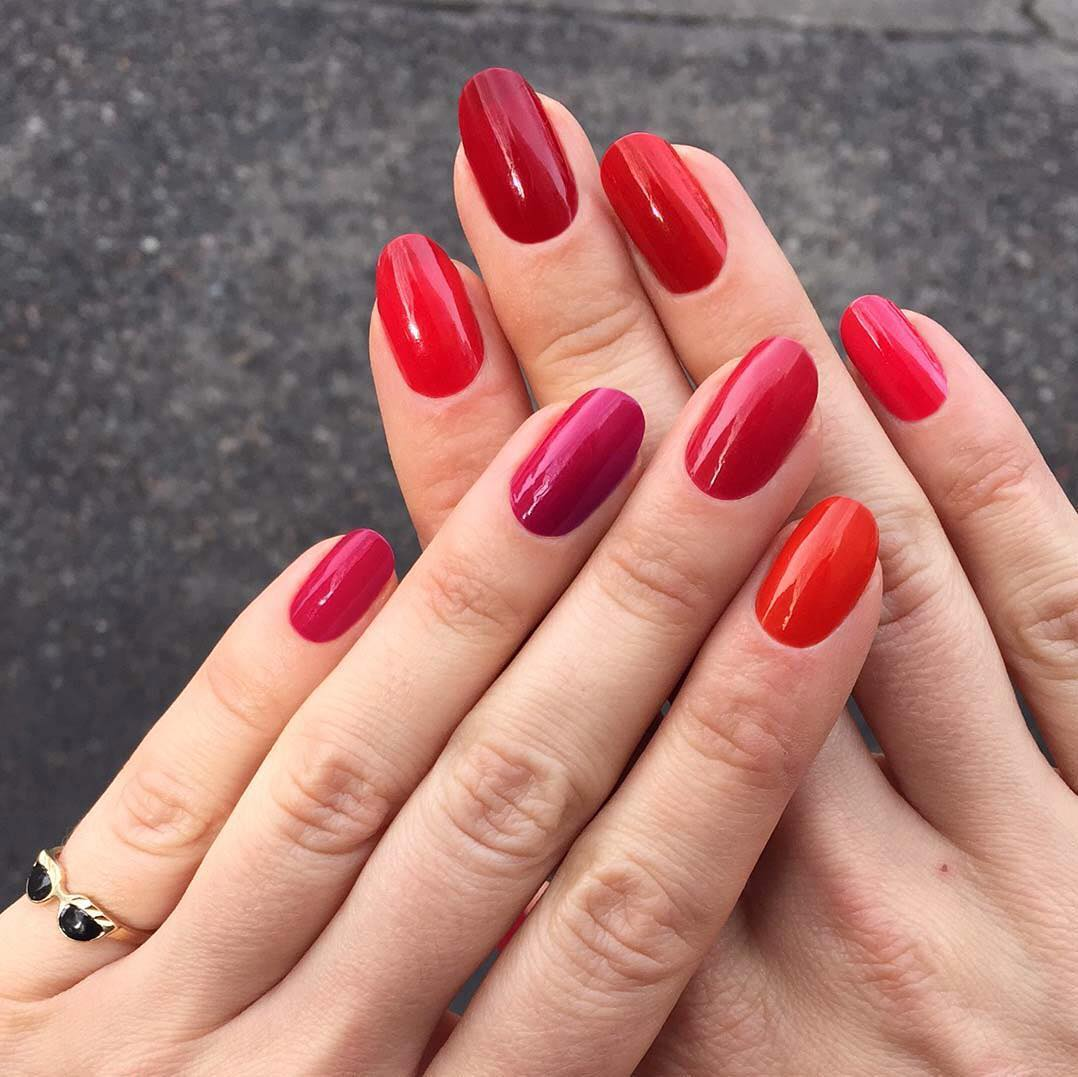 Hot red Nail Art Designs For Wedding