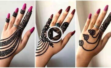 One Side Stylish Jewellery Henna Mehndi Design for Hands