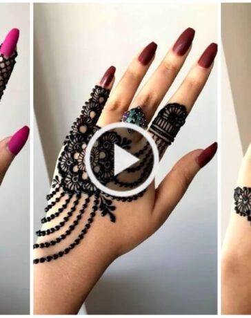 One Side Stylish Jewellery Henna Mehndi Design for Hands