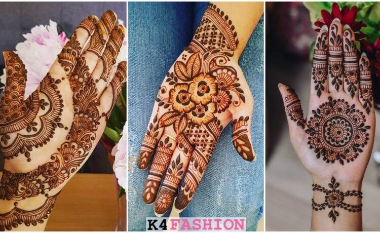 Beautiful Half Hand Mehendi Designs For Brides & Bridesmaids - Front Hand
