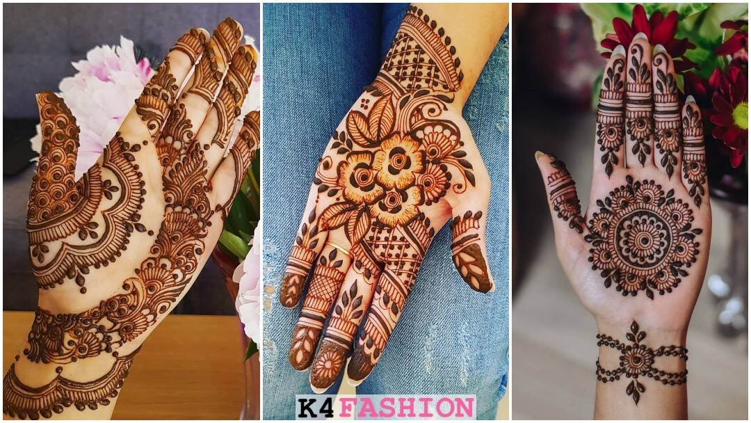 Beautiful Half Hand Mehendi Designs For Brides & Bridesmaids - Front Hand