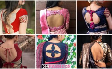 Silk Saree Blouse Back Neck Design