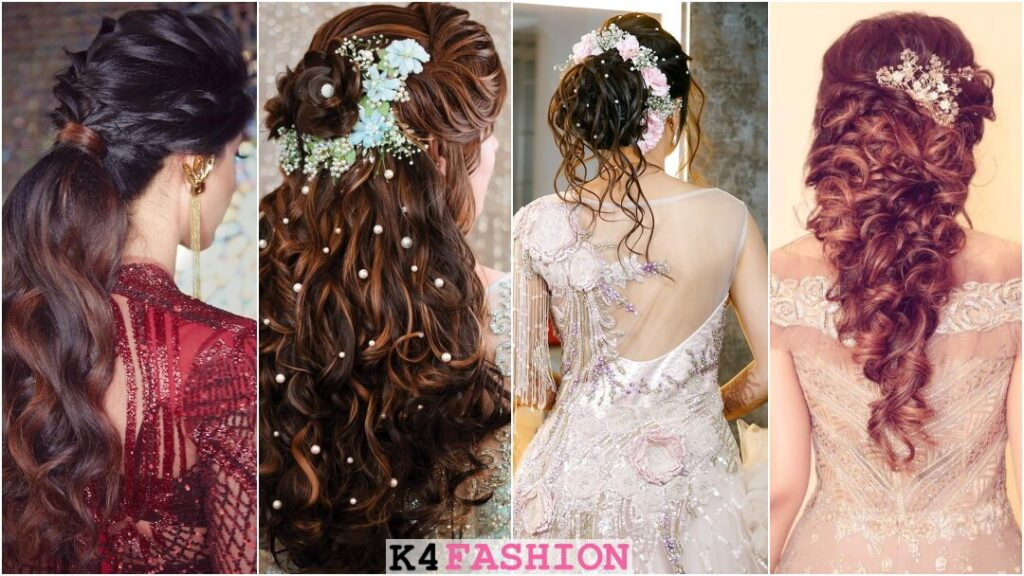 Hairstyles With Gown For Indian Wedding Ceremonies K4 Fashion