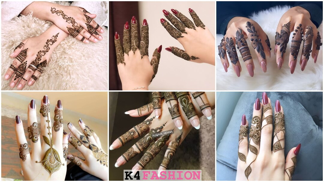 Khafif Mehndi Designs For Fingers Back Side K4 Fashion