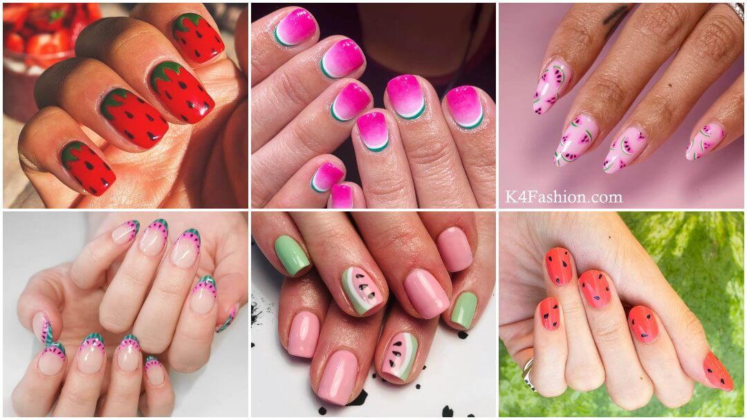 Watermelon Nail Art Designs for this Summer