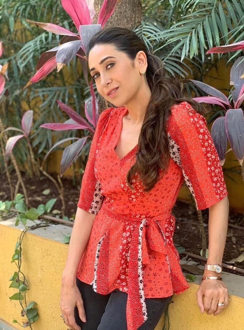 Karisma Kapoor Floral Chick Top for Work