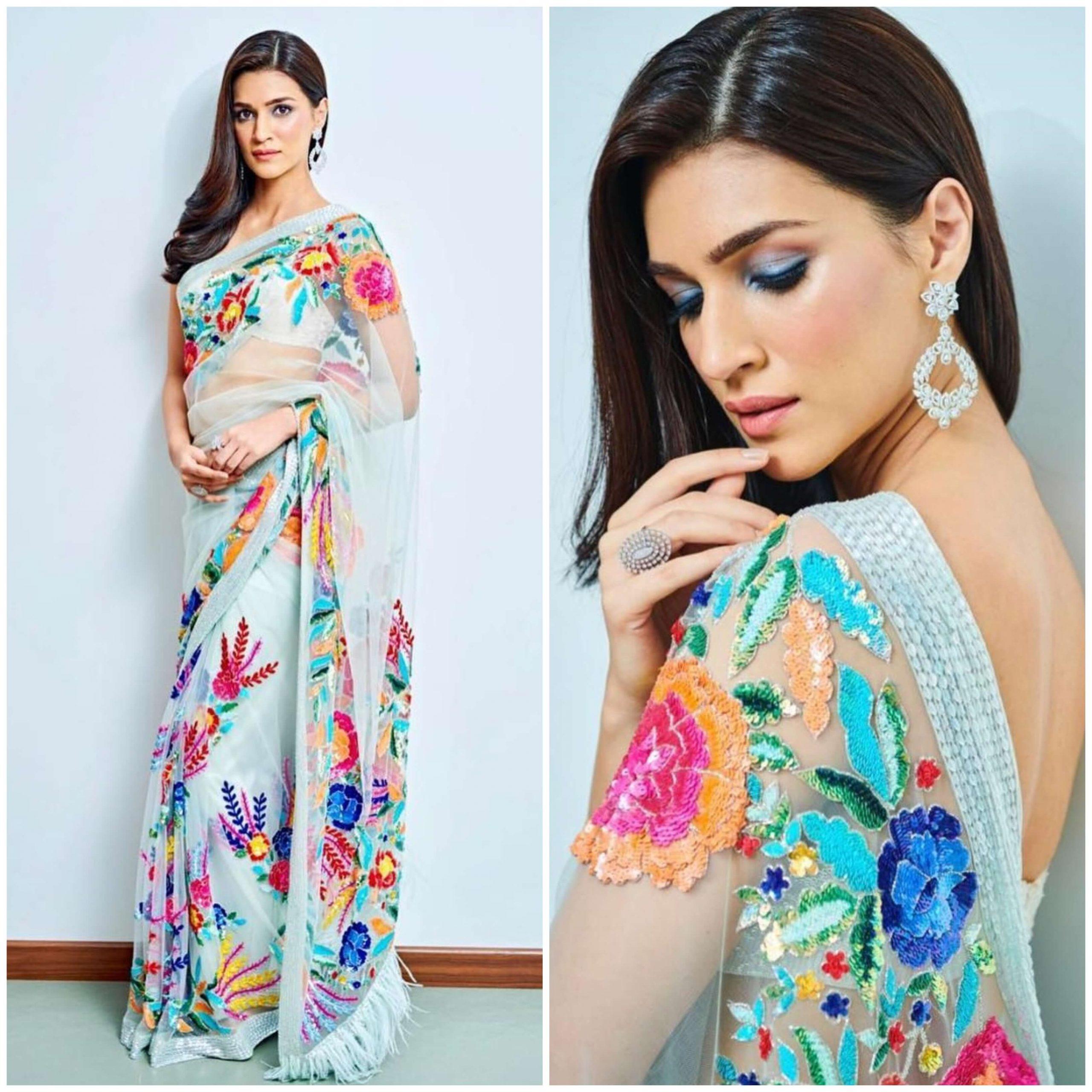 Kriti Sanon Beautiful Floral Print Designer Dress