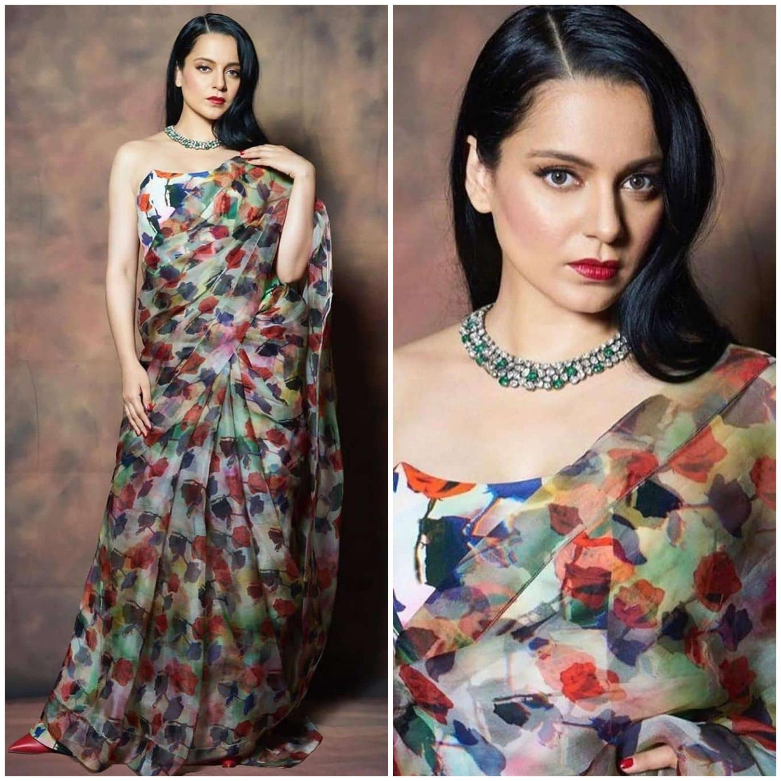 Kangana Ranaut beautiful Floral Print Designer Dresses