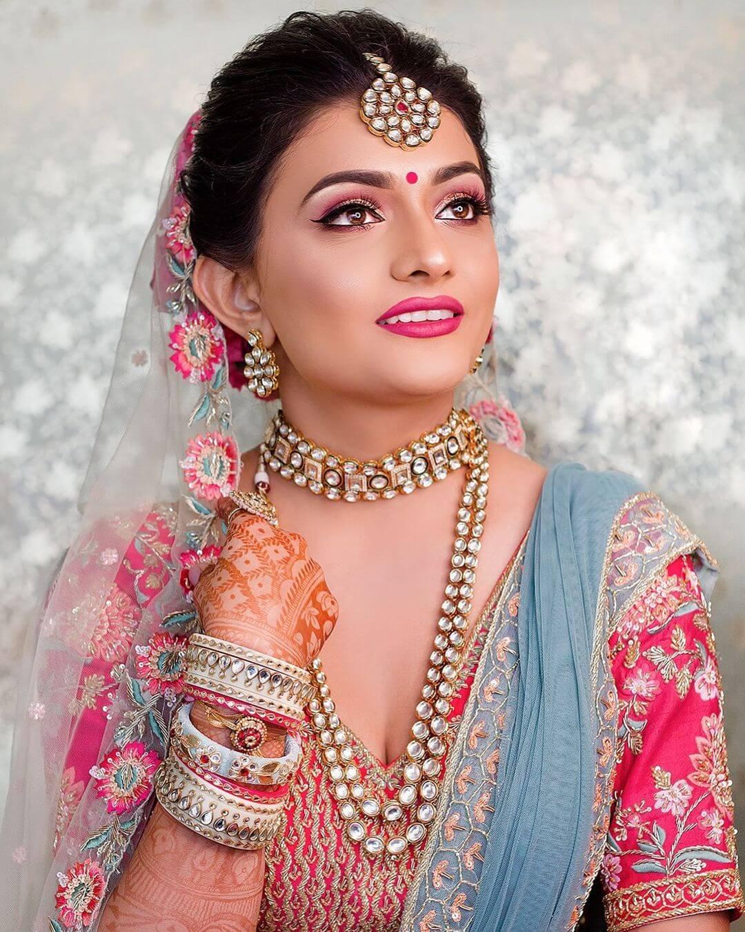 Pretty In Pink bridal Look - traditional Gujarati bridal makeup looks