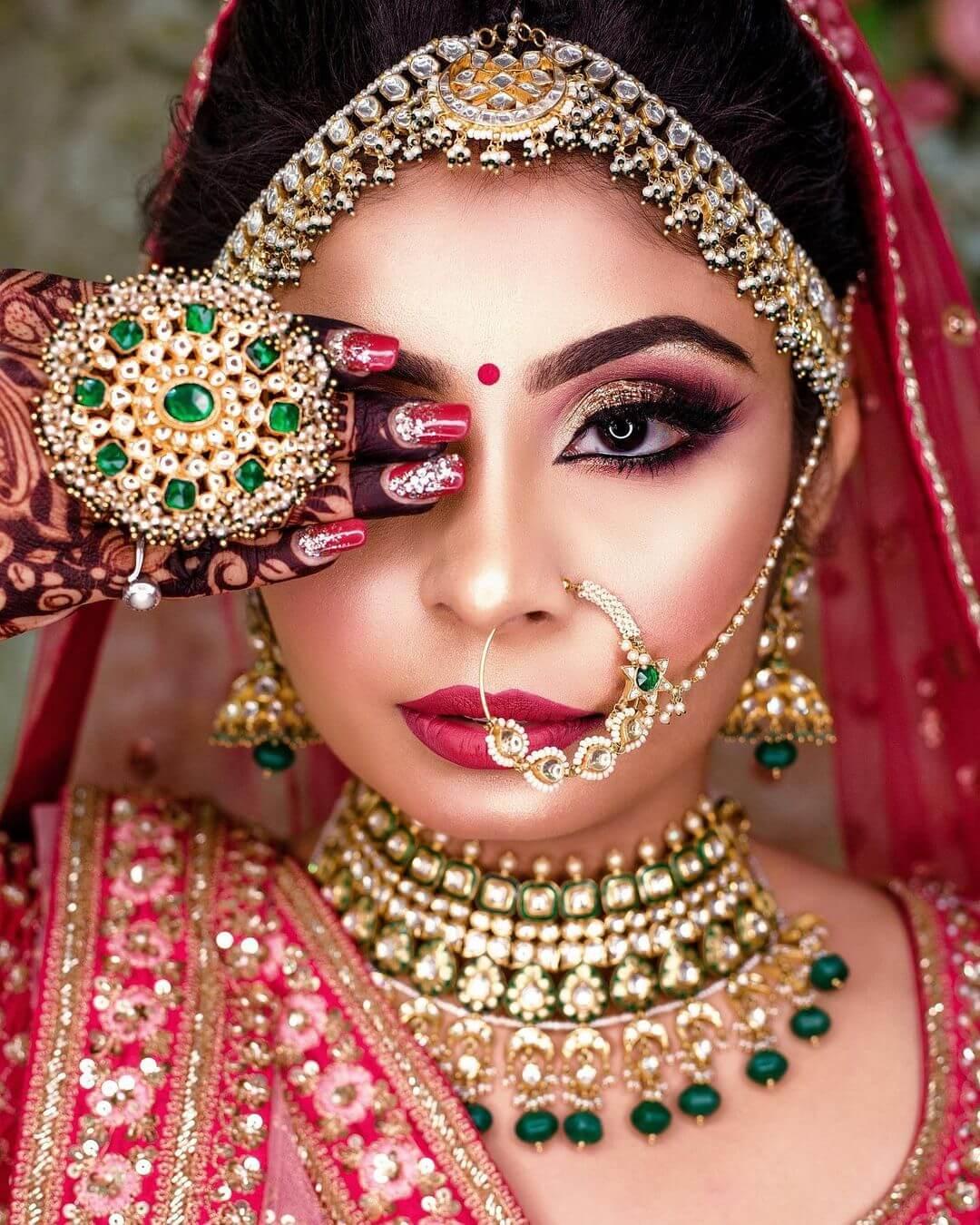 The Golden bridal look
