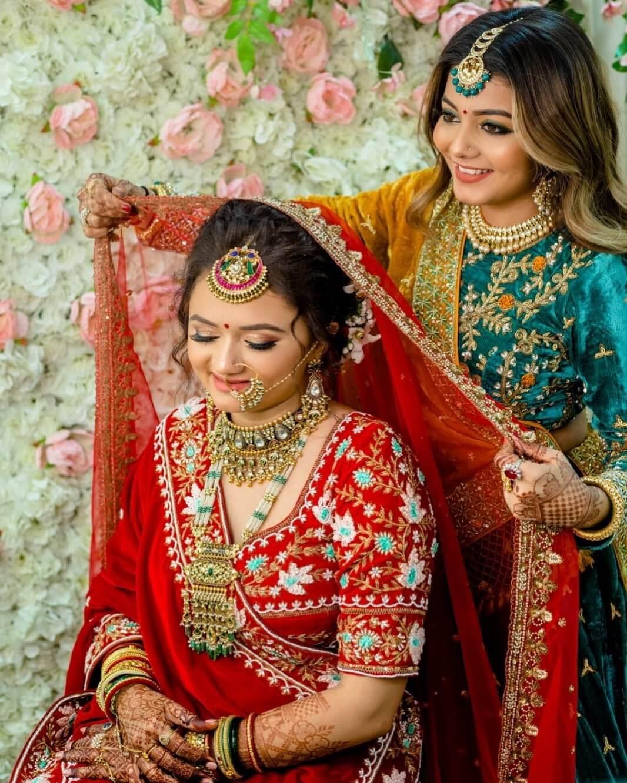 Simple matte bridal Look