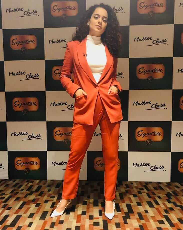Orange rayon linen coated blazer and trouser Outfits for Wedding Season
