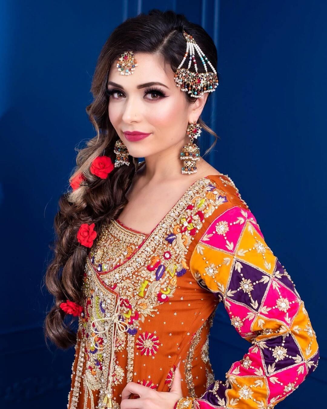 Colorful Beaded Passa/Jhoomar Designs For Muslim Bride