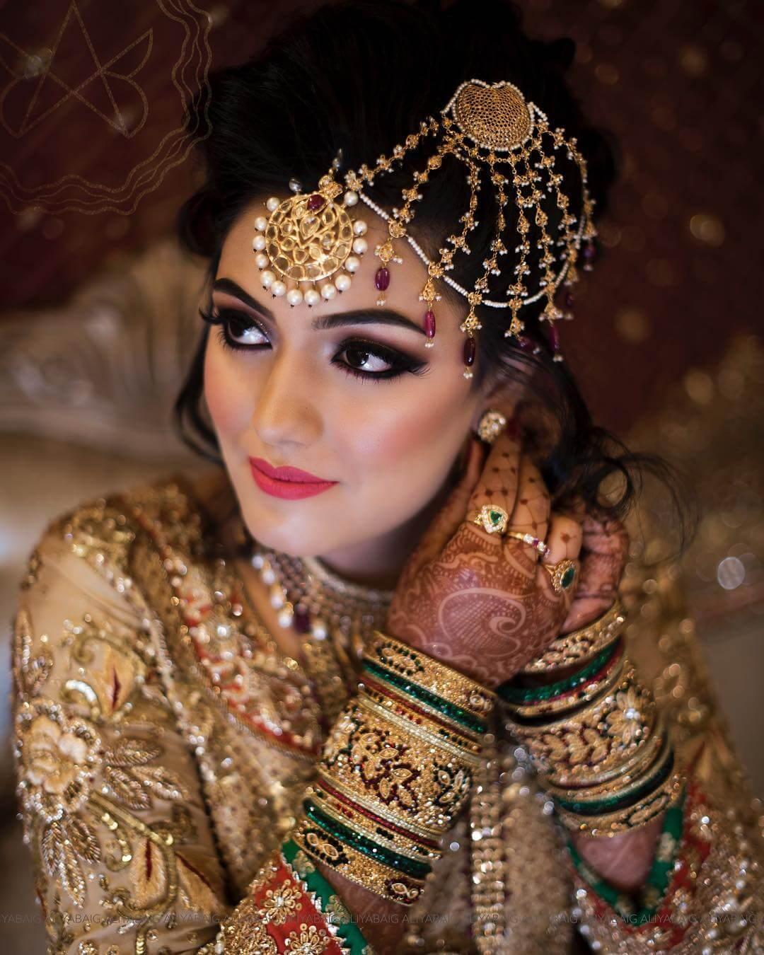 One Side Head Chain Passa/Jhoomar Designs For Muslim Bride