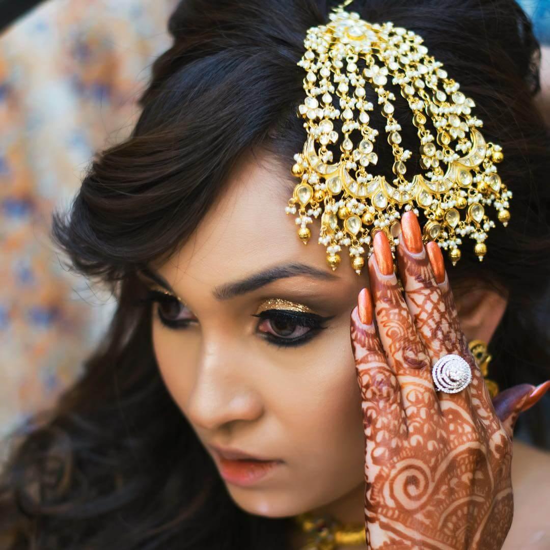 Detailed Kundan Look Passa/Jhoomar Designs For Muslim Bride
