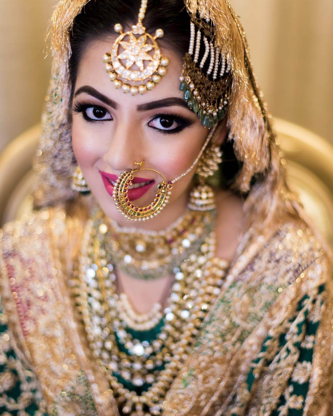Elegant Pearl Passa/Jhoomar Designs For Muslim Bride