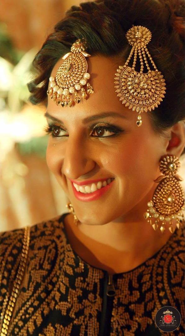 Pure Gold Passa/Jhoomar Designs For Muslim Bride