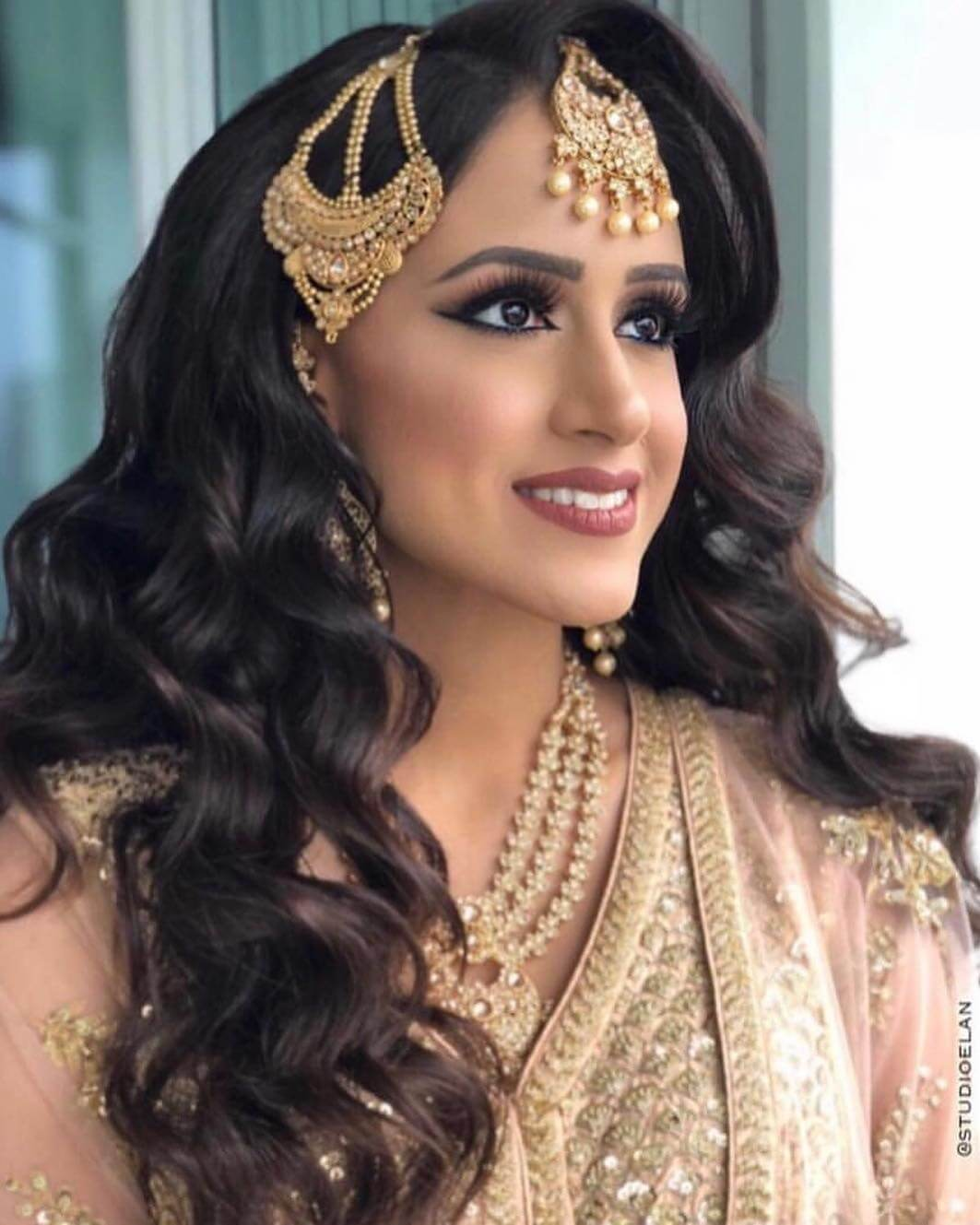 Antique Gold Passa/Jhoomar Designs For Muslim Bride