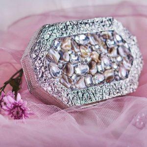 Diamonds embedded on a ravishing clutch is all we want - Designer Bridal Handbags - Clutches, Potli