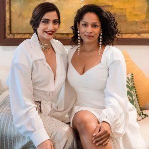 sonam kapoor Front open white shirt