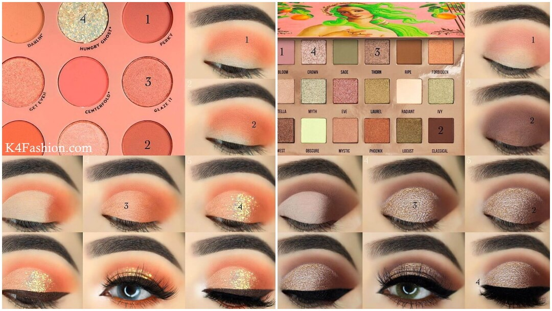 Nowadays eye makeup is become very essential for women to express her confidence and power. Cat eye, eye liner, smokey eye, unsplash and eyeshadow palette designs for women to use in parties, wedding and daily routine use. Checkout eye makeup step by step image tutorials for women to look gorgeous and beautiful.