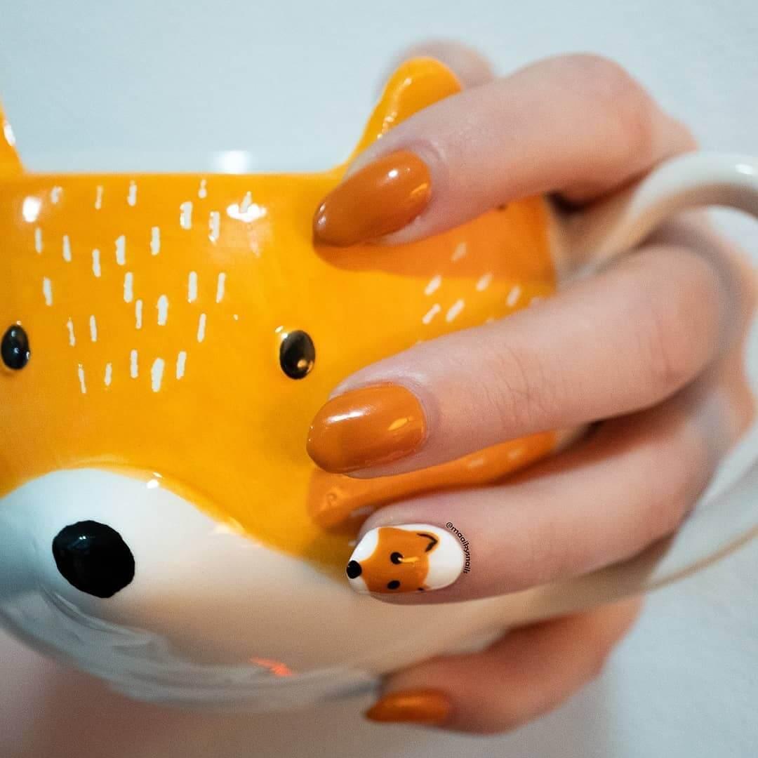 Animal themed nail art Foxy Nails