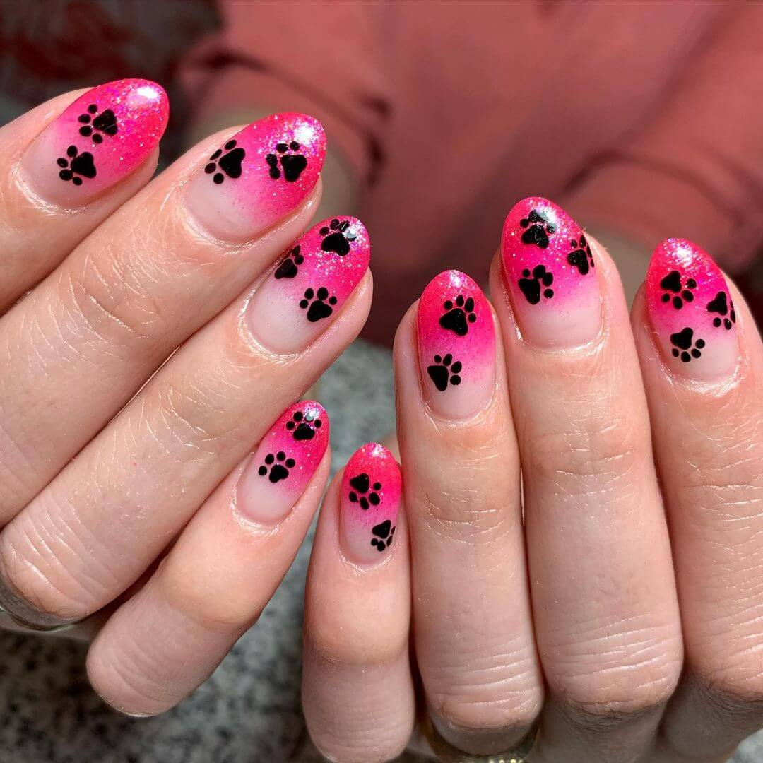Animal themed nail art DOG NAILS