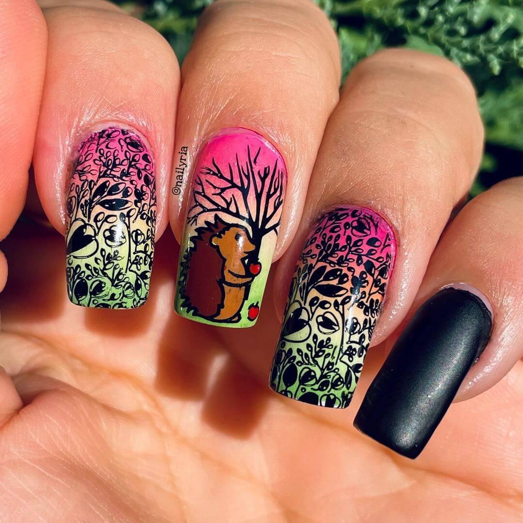 Animal themed nail art Nature Nails