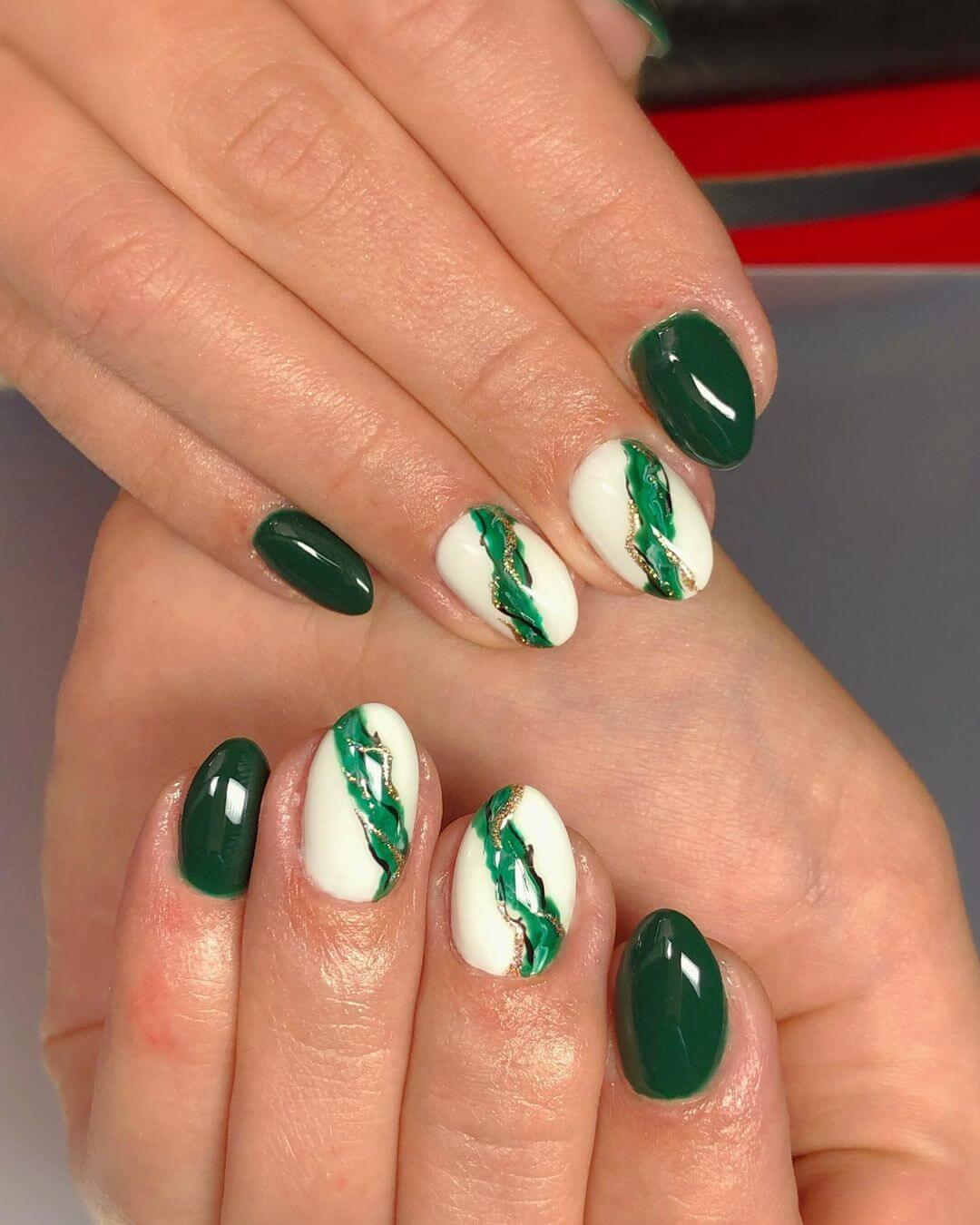Gel Nail Art Greed For Green