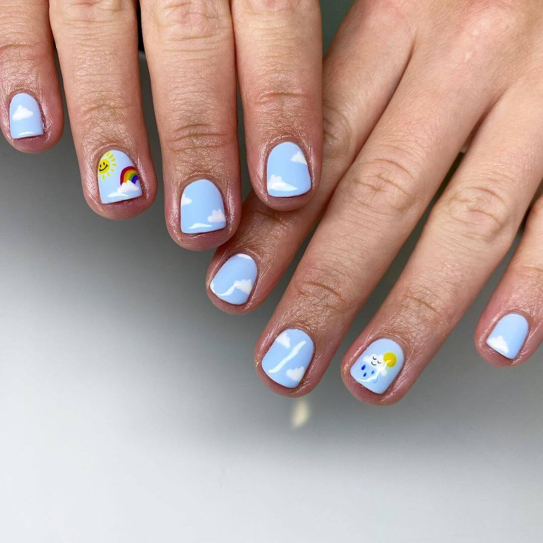 Gel Nail Art Designs Ice-blue to get you a formal look