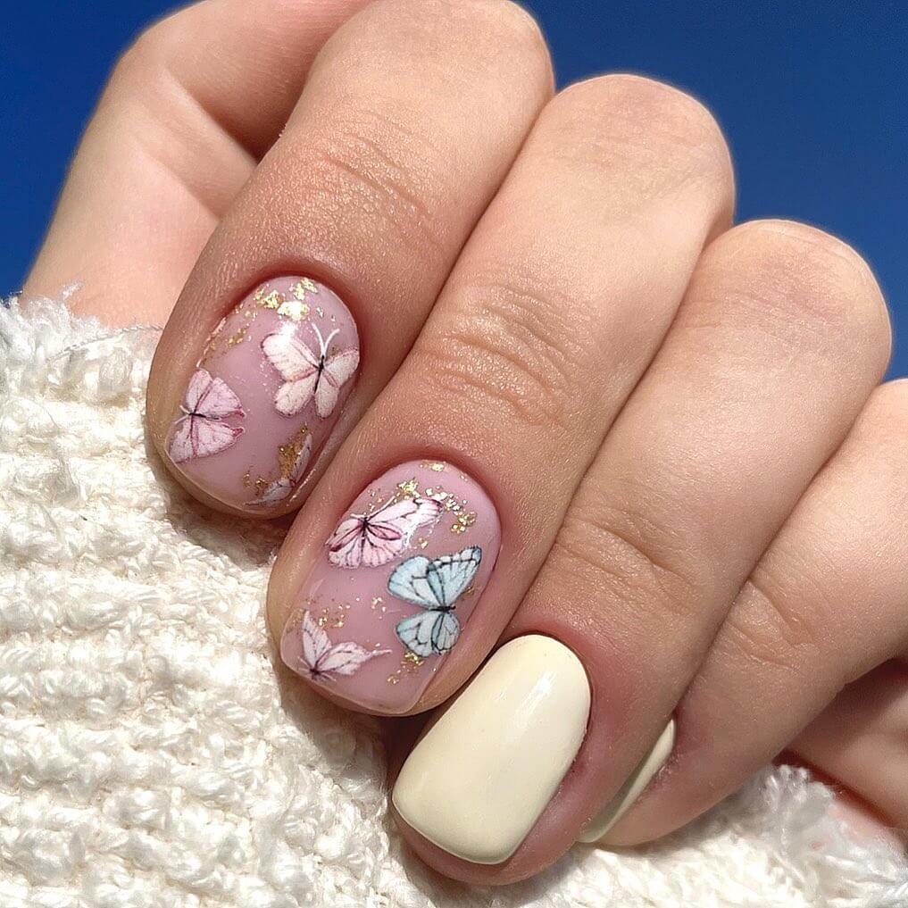 Gel Nail Art Designs Butterflies all around!