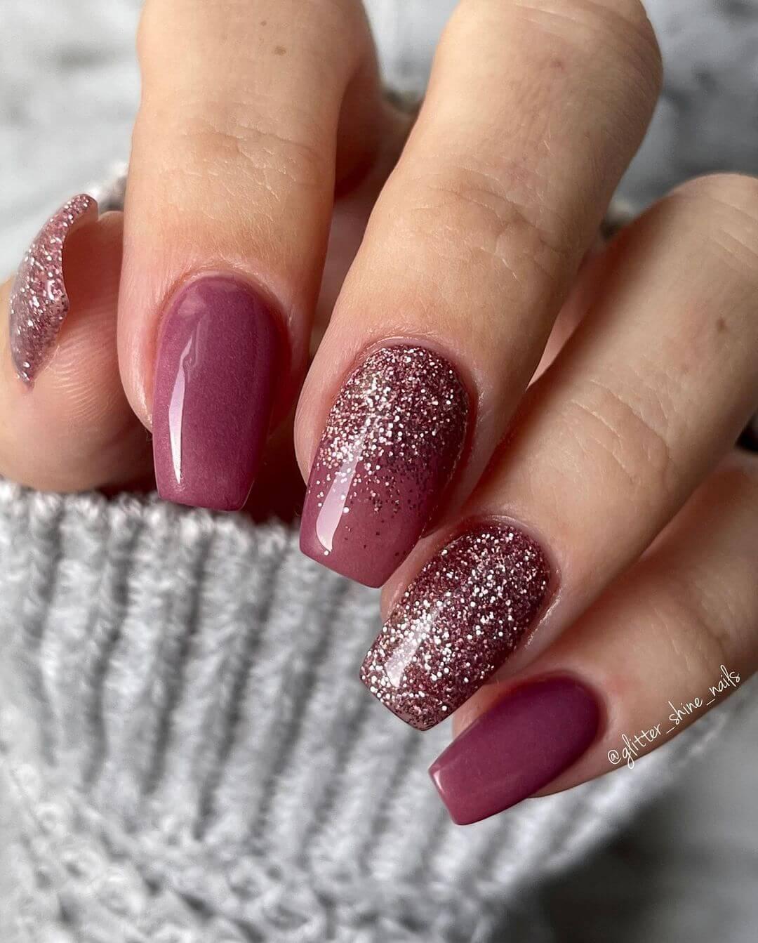 Glitter Nail Art Designs Wonders trucking maroon nail paint