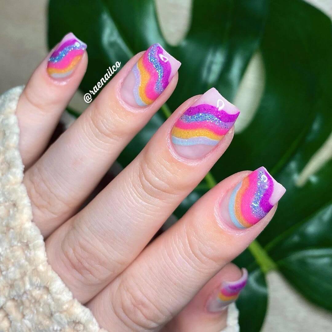 Glitter Nail Art Designs Lovable unicorn nail paint