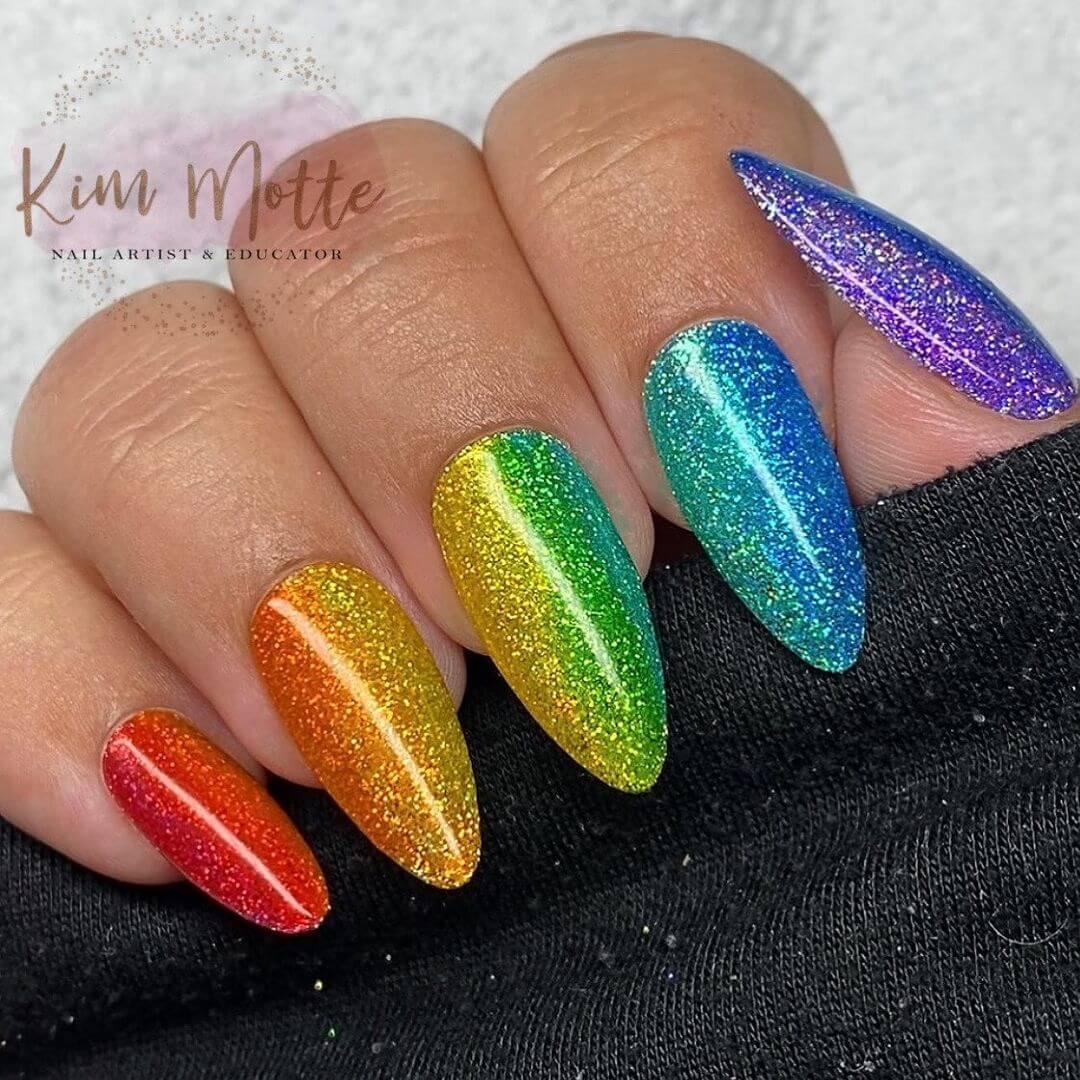 Glitter Nail Art Designs The nagyor shade (nail + vibgyor)