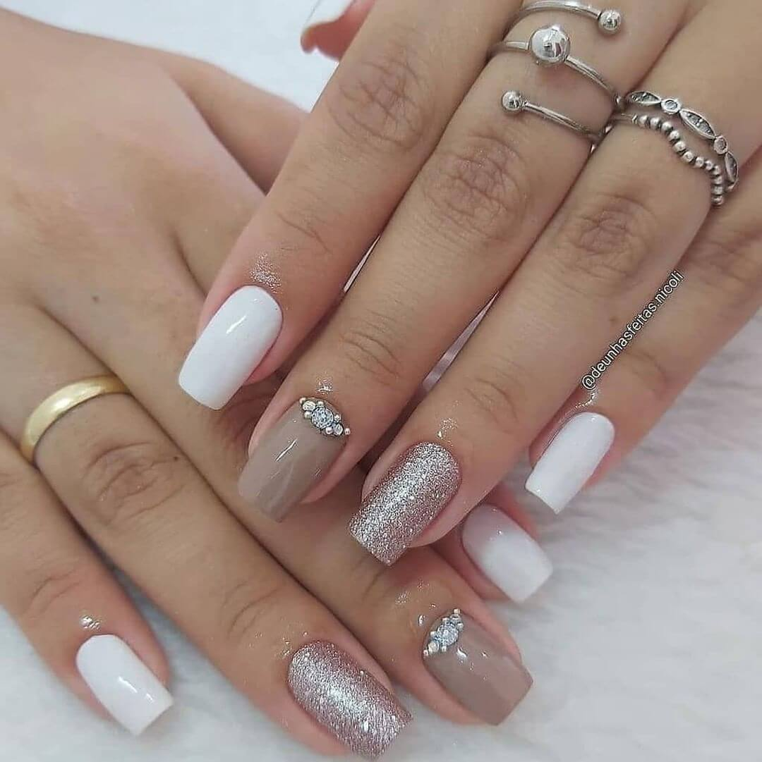 Glitter Nail Art Designs Because nude is the new black