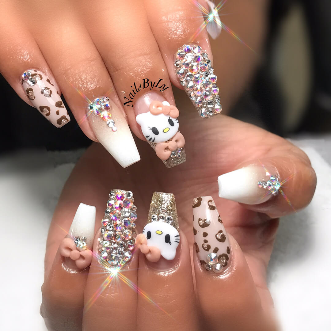 Hello Kitty with funky glitters