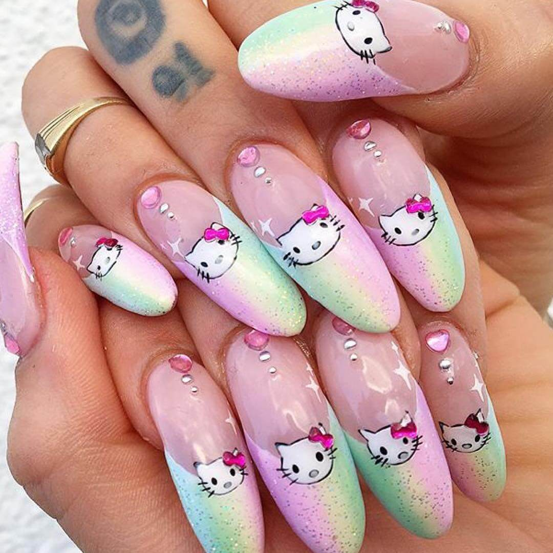 Hello Kitty with its sweet pink charm